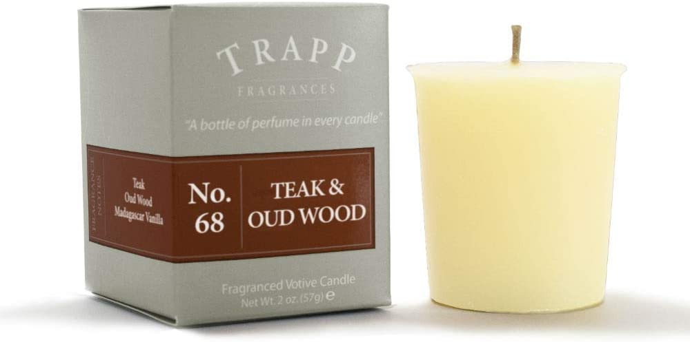 Trapp Signature Home Collection No. 68 Teak and Oud Wood 2 Ounce Votive, 2 Pack