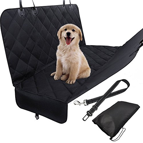 600d Ripstop Poly Oxford - CARSUN Backseat Dog Cover Waterproof - Pet Car Seat Covers for Dogs Hammock With Car Seat Belt Black