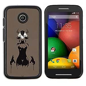 Qstar Arte & diseño plástico duro Fundas Cover Cubre Hard Case Cover para Motorola Moto E (Astado Señora)