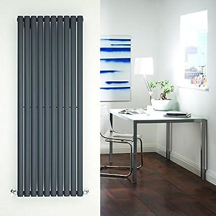 Milano Hudson Reed - Radiador de Diseño Vertical - Antracita - 1600mm x 590mm x 55mm