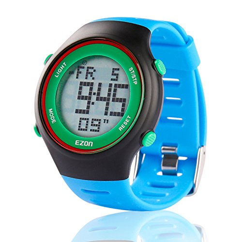 EZON L008B12 Blue Sport Watch Leisure Casual Wristwatch with Big Digital Display