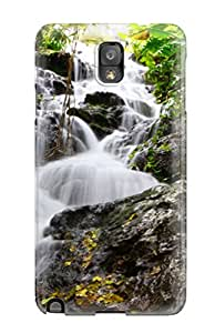 For Galaxy Note 3 Tpu Phone Case Cover(waterfall) With Free Screen Protector