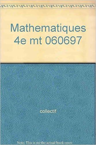 En ligne téléchargement Mathematiques 4e mt                                                                           060697 pdf ebook