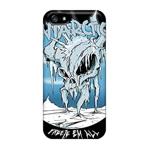 Shockproof Hard Phone Covers For Iphone 5/5s With Customized Realistic Metallica Band Image ErleneRobinson
