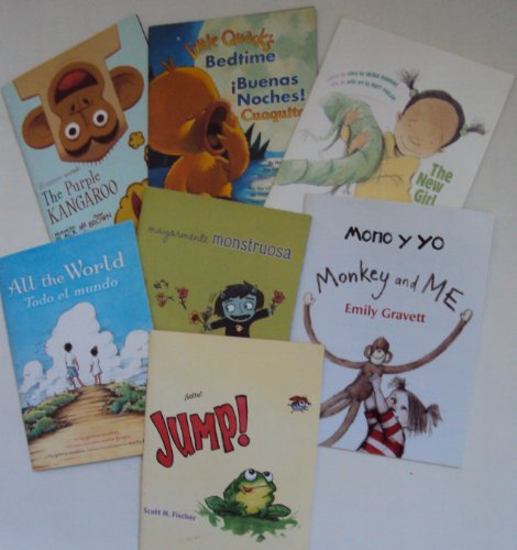 Spanish Books for Kids : Mono Y Yo; La Nina Nueva; Salto, Jump; Mayormente Monstruosa, Mostly Monsterly; Todo El Mundo; El Canguro Morado; Peeny Butter Fudge