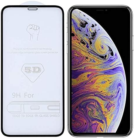 Mobile Screen Protective Film 25 PCS 9H 5D Full Glue Full Screen Tempered Glass Film for iPhone Xs Max yf