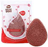 #3: MY Konjac Sponge All Natural French Red Clay Facial Sponge for Dry or Mature Skin