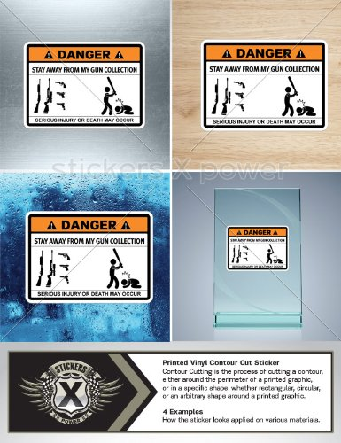 Humor Decals Vinyl Sticker Warning Stay Away From My Guns