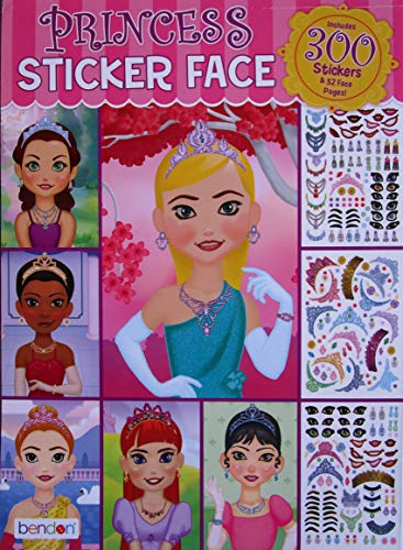 Face Princess - Princess Sticker Face 300 Stickers and 32 Face Pages (Cover design may vary)