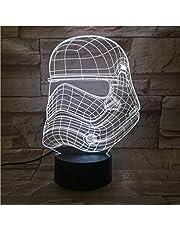 Lámpara de ilusión LED 3D Lámpara de luz nocturna Wars Stormtrooper Figura Decoración de dormitorio para niños Lámpara de luz nocturna para niños