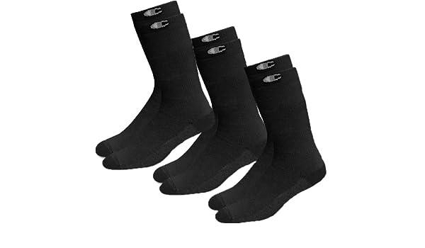 Champion - Calcetines de deporte - para hombre Negro negro: Amazon.es: Ropa y accesorios
