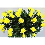 Yellow-RosesCemetery-ArrangementGraveside-DecorationsHeadstone-SaddleSaddle-ArrangementSympathy-FlowersGrave-decorCemetery-Flower-Service-Subscription-Available