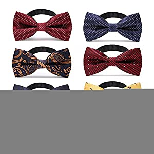 JIMUKEE Mens Pre-tied Tuxedo Bow Ties With Adjustable Neck Strap Bowtie Value Set