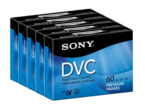 Sony 60 Minute DVC Premium (5 pack) by Sony