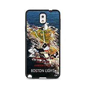 Boston Lighthouse Postcard 2For Case Samsung Note 4 Cover Hard Phone Case