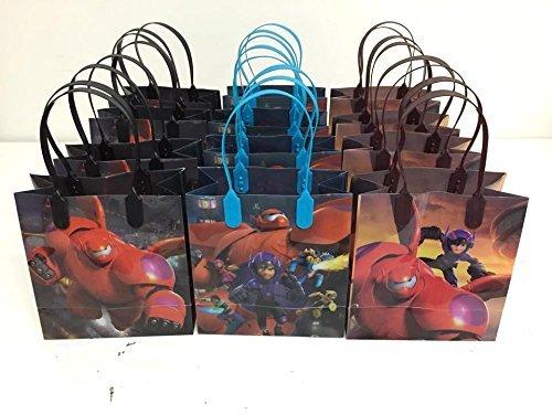 12pcs Disney Big Hero 6 Treat Bags Baymax Goodies Bags Hiro