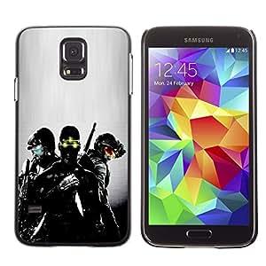 Caucho caso de Shell duro de la cubierta de accesorios de protección BY RAYDREAMMM - Samsung Galaxy S5 - Visión nocturna Soldado