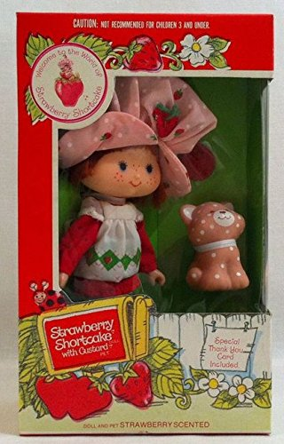 1981 Kenner Strawberry Shortcake Doll with Custard Pet ()