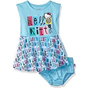 Hello Kitty Baby Girls Embellished Tutu Dress, Blue, 12M