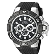 Men's 'I-Force' Quartz Stainless Steel and Silicone Casual Watch, Color:Black (Model: 24385)