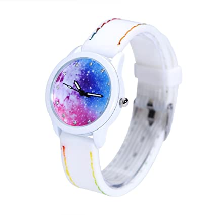 Girl Lady Quartz Watch, 3 Types Creative Women Analog Quartz Silicone Strap Female Wristwatch(