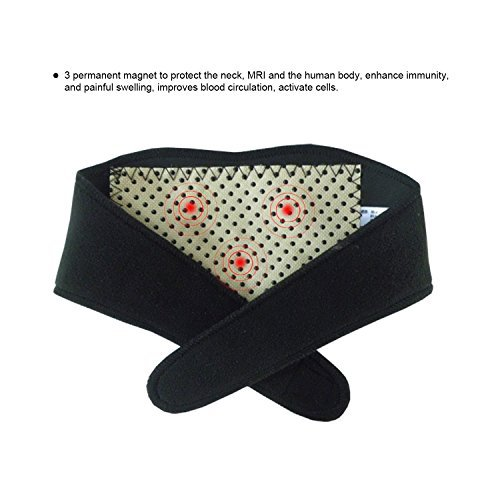 Magnetic Therapy Neck - Neck Guard with Adhesive Velcro,Tourmaline Nano Self-heating Infrared Magnetic Therapy Neck Brace Pain Relievers,Black Color