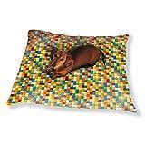 Mosaic Blocks Dog Pillow Luxury Dog / Cat Pet Bed