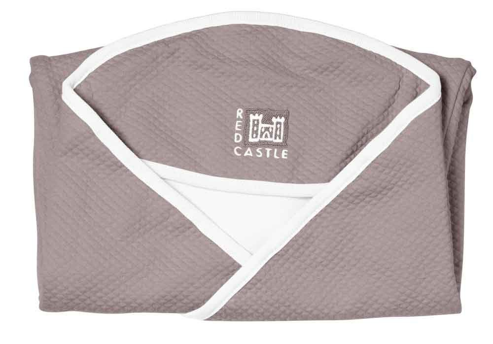 Red Castle - Couverture Babynomade Taupe Blanc Coton Taille 2