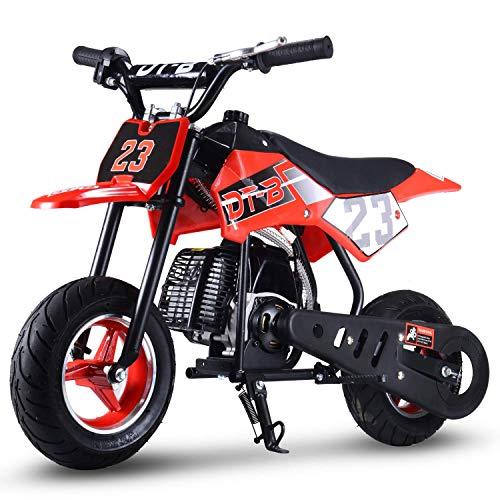 V-Fire 2-Stroke Gas Dirt Bike Mini Motorcycle (EPA Registered, No CA Sales) (red)