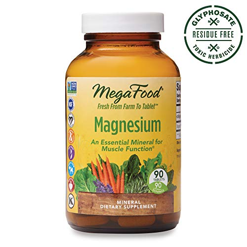 MegaFood- Magnesium Supplement, Gluten Free, Vegan, 90 tablets -