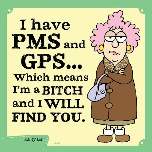 Tree-Free Greetings 60883 Hilarious Aunty Acid Premium Square ECOMagnet, 3.5 by 3.5-Inch, PMS GPS