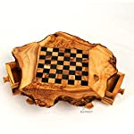 BeldiNest Gift Idea! Olive Wood Rustic Chess Set, Handcrafted Chess Game Board S6x6