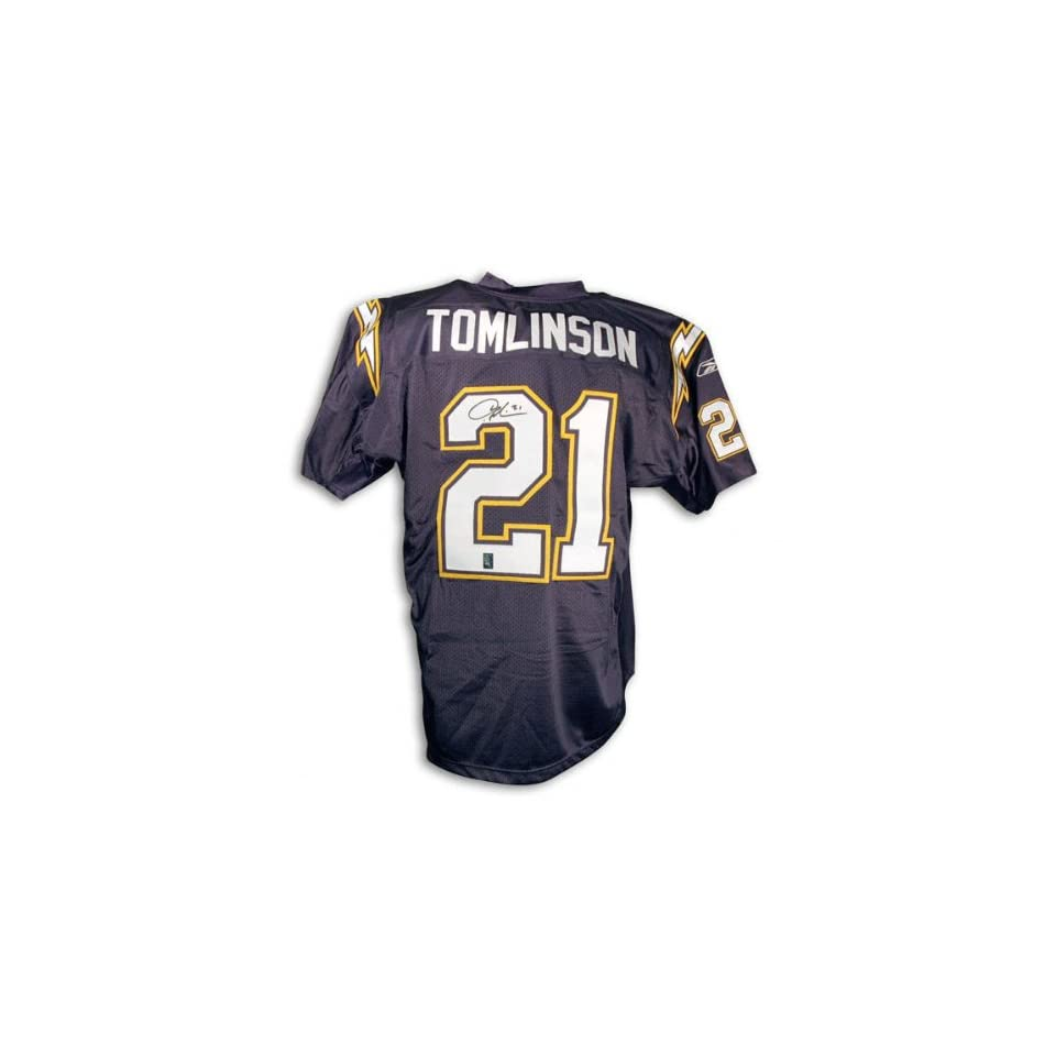 LaDainian Tomlinson San Diego Chargers Autographed Authentic Blue Reebok Jersey