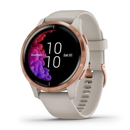 Garmin - Reloj Inteligente Smartwatch Garmin Venu Oro Rosa/Arena ...