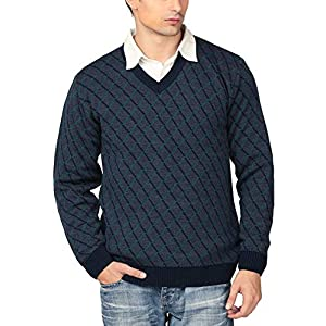 Aarbee Men's Blended Sweater (Navy)