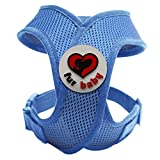 Best Choke-Free Dog Harness to keep your pet safe and comfortable. Harnesses are far superior to a collar to protect the neck and throat of your pet. Sizes for small dogs breeds and puppies. similar to Puppia and Webmaster. Perfect to use in dog training or for a puppy. MEASURE YOUR DOG USING THE SIZE CHART IN THE IMAGES BEFORE BUYING. 100% Satisfaction Guarantee (Blue, Large)