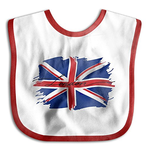 Price comparison product image London British Flag Comfortable Soft Baby Bibs Keep Stains Off! Spend Less Time Cleaning After Meals With Babies Or Toddlers