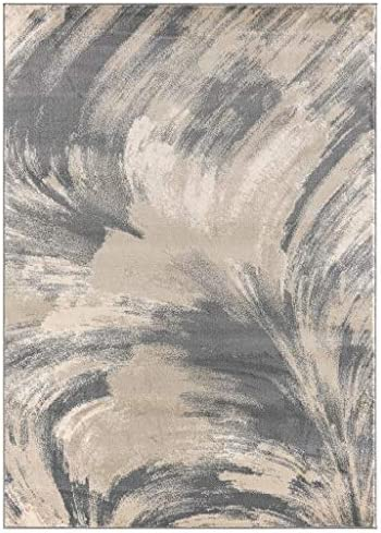 Luxe Weavers Howell Collection Abstract Gray 5×7 Area Rug