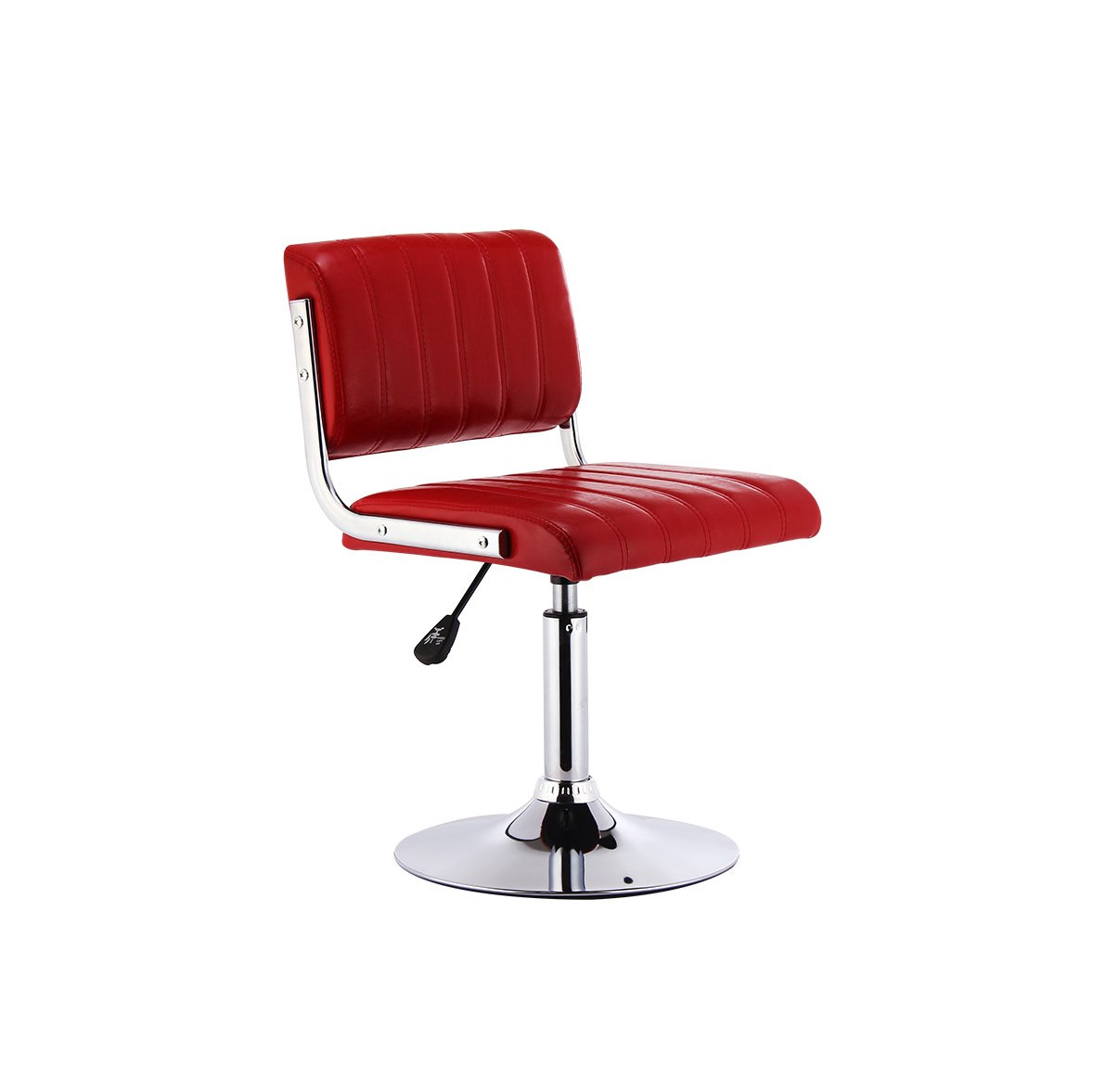 RED XUERUI Barstools L-70 Barstools Backrest High Foot Stools Rise Drop Bar Stools Strong Stability (color   RED)