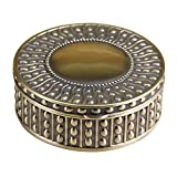 Best Trinket Boxes With Golds - Decorative Vintage Jewelry Treasure Chest Box,Antique Finish Plated Review