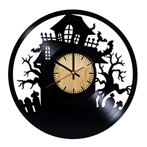 Home & Crafts Halloween Ornament Vinyl Wall Clock –Handmade Gift for any Occasion – Unique Birthday, Wedding, Anniversary, Wall Décor Ideas for any Space -