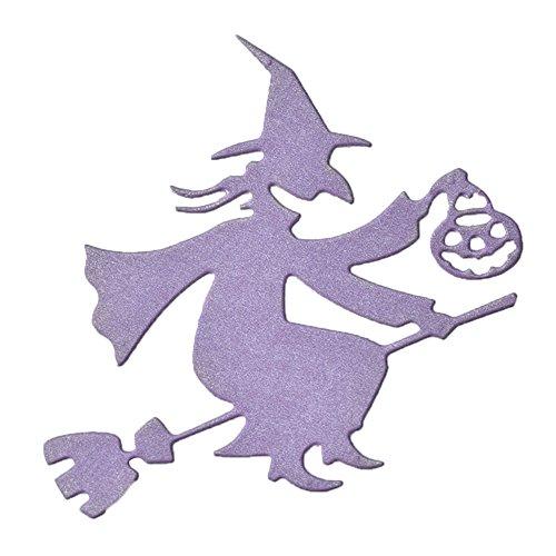 Die Cuts, Trenton Halloween Witch Pumpkin Lantern Metal Decorative Cutting Die for Scrapbooking