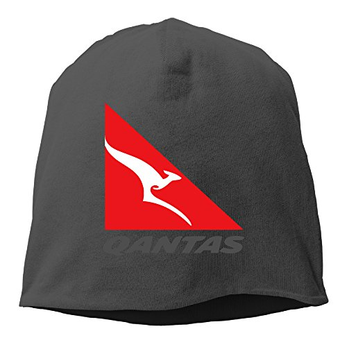 man-woman-qantas-airline-logo-kangaroo-wool-beanies-cap-7-colors-black