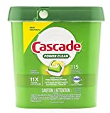 Mega Value! Cascade Power Clean Dishwasher Detergent, Action Pacs Fresh Scent, 11x Power 115 Count