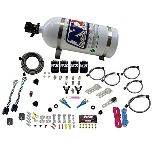 Nitrous Express 20927-10 35-75 HP x 2 Sport Compact EFI Dual Stage System with 10 lbs. Bottle - Stage Nitrous System