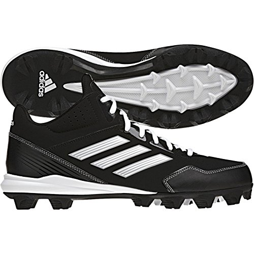 (adidas Performance Men's Wheelhouse Mid Baseball Cleat, Core Black/Running White/Metallic/Silver, 8 M US)