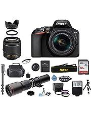 $729 » Nikon D3500 24.2MP DSLR Camera + AF-P DX 18-55mm VR NIKKOR Lens + 500mm Preset f/8 Telephoto Lens + Accessory Bundle + Inspire Digital Cloth