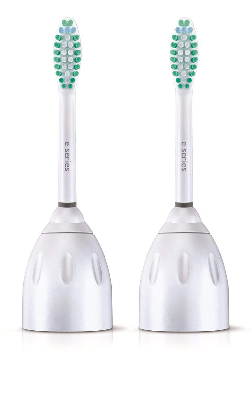 Philips Sonicare E-Series Replacement Toothbrush Heads, HX7022/66, 2 Brush Heads (4 Packages)