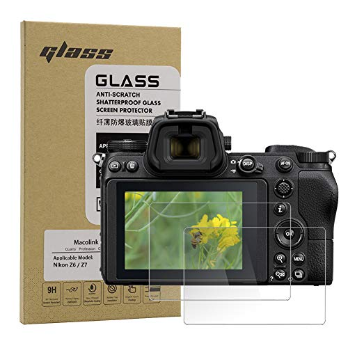 Macolink Tempered Glass Screen Protector for Nikon Z6 Z7, HD Optical Glass Anti-Scratches Camera Protective Film (2 Pack)