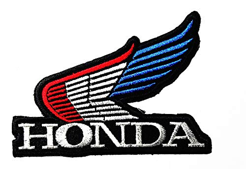 Honda Logo Patch - Automotive Industry Motorcycle Motorbike Wing Vehicle Logo Patch Embroidered Sew Iron On Patches Badge Bags Hat Jeans Shoes T-Shirt Applique